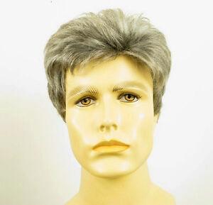 perruque homme 100 cheveux naturel grise poivre et sel franck 44 ebay. Black Bedroom Furniture Sets. Home Design Ideas