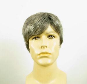 perruque homme 100 cheveux naturel grise poivre et sel thierry 51 ebay. Black Bedroom Furniture Sets. Home Design Ideas