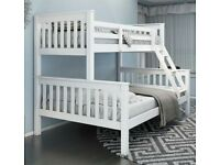 🔵💖Decore your dreams🔵💖Kids Bed New Trio Wooden Bunk Bed In Multi Colors With Optional Mattress