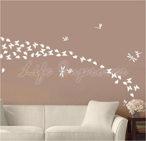 62-Butterfly-Dragonfly-Vinyl-Wall-Art-Graphic-Sticker-Decal-Decoration-Colourful