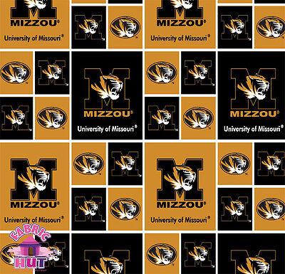 NCAA University of Missouri Tigers Cotton Fabric MO-020 ()