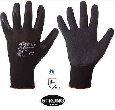 Montagehandschuhe Nylon-Latex-Handschuhe 1 Paar FINEGRIP EN 388, Größe 9