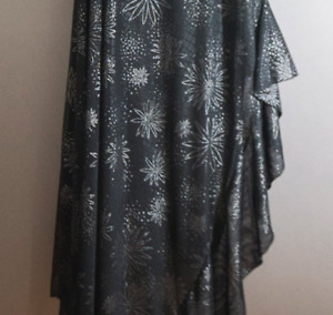 Plus Size Designer Black and Silver Gown, Fits 1x 2x 18 22