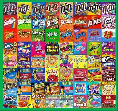 12 Mini Vendstar Vending Machine 1-12 Square Candy Stickers Label