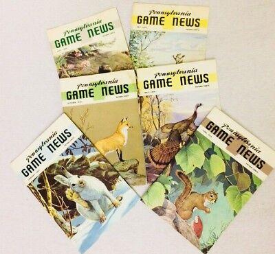 Vintage 1960s 6 Pennsylvania Game News Hunters Digest Magazines Hunting Wildlife