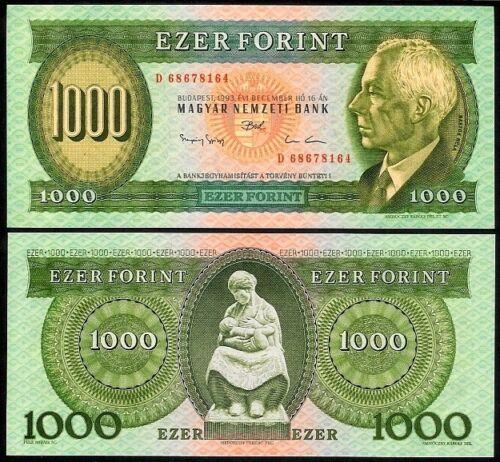 HUNGARY 1000 FORINT 1993D P176b UNCIRCULATED