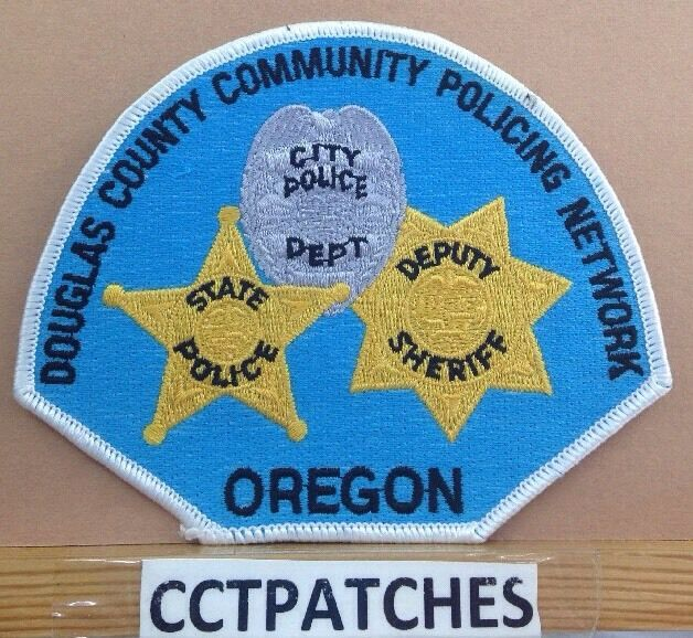 DOUGLAS COUNTY COMMUNITY POLICING NETWORK, OREGON STATE POLICE SHERIFF PATCH OR