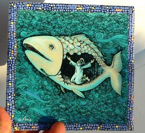 Jonah And The Fish Wall Decor Tile Bible Story Lord God