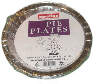18 Pie Plates Flan Dishes Oven Tin Foil Takeaway Food Container Disposable 10
