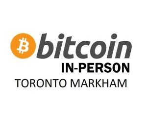 SELL BUY BITCOIN WALK IN EXCHANGE www.BitcoinInPerson.ca