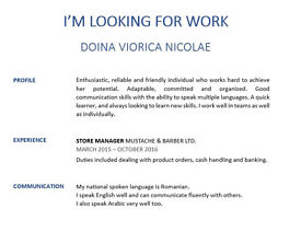 LOOKING FOR RETAIL WORK