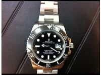 Rolex Submariner with ceramic dial and brushed steel