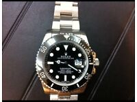 Rolex Submariner with full ceramic bezel and glide