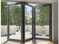 NEW 3 Door Bi Folding Door Glazed