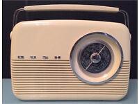 Bush Vintage Retro Radio FM MW LW Electric And Battery Usage Beige