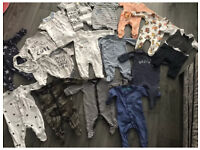 Baby boy bundle of babygrows / rompers newborn Up to 1 Month