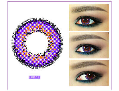 LENTI A CONTATTO ANNUALI VIOLET VIOLA HALLOWEEN COSPLAY CON PORTALENTI COLORATE