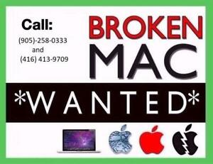 Wanted: CASH FOR YOUR BROKEN MACBOOK AIR , MACBOOK PRO !!!!