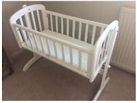 New Mothercare swinging crib!