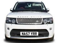 NASTY RANGE ROVER,SPORT, EVOQUE SVR Kahn concepts Overfinch NA57Y RR PRIVATE NUMBER PLATE