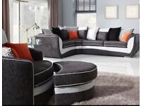 Corner sofa with swivel chair