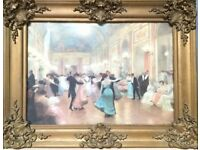 EXCELLENT CONDITION: Victor Gabriel Gilbert: The Ball - including frame!