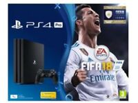 PS4 pro 1Tb. Fifa 18