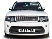 Suit RANGE ROVER,SPORT, EVOQUE & Rolls Royce golf R private number plate NASTY