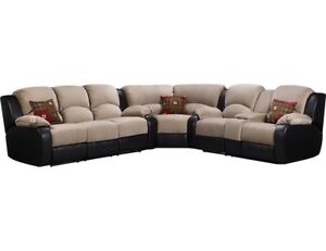 Reclining sectional ( beige & brown)