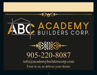 Academy Builders Corp custom renovations and building contractor