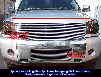 Fits 2004-2007 Nissan Titan/Armada Billet Grille Combo Insert