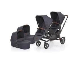 ABC Design 2017 Zoom Tandem and 2 Carrycots in Street 2 Car Seats and adapters