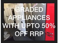 Brand NEW Ex-Display/Graded Fridges with Upto 50% OFF RRP