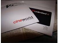 Cineworld 12 month unlimited card