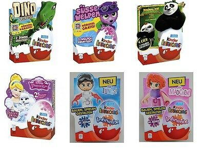 KINDER SURPRISE Eggs 4 Pack Kung Fu Panda 3 / Disney Princess Boys/Girls 2016