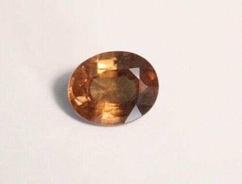 1.48ct Honey Malaya Garnet - Precision Oval Cut Gem