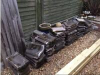 Approx 70 Roof Tiles - 1960s now obsolete, spares or for small porch, length 38cm x width 23cm