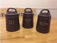 Storage Jars Tea Coffee Sugar Wine Colour