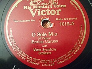 Enrico Caruso - Version originale 1919 sur 78 tours