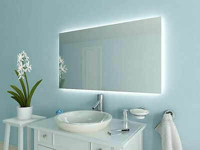 LED Badspiegel Spiegel nach Maß mit Beleuchtung Neutralweiss ☼ A1 ...