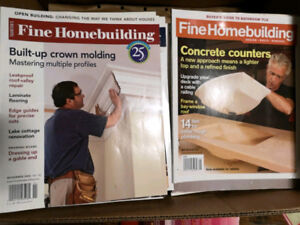 REDUCED Fine woodworking homebuilding shopnotes  this old house
