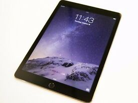 APPLE IPAD AIR 2 4G WIFI IN BLACK COMES WITH CHARGER AND THREE MONTHS WARRANTY