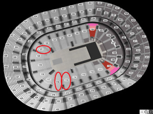 ARIANA GRANDE @Bell Centre, April 1, SECTION ROUGE/RED low rows