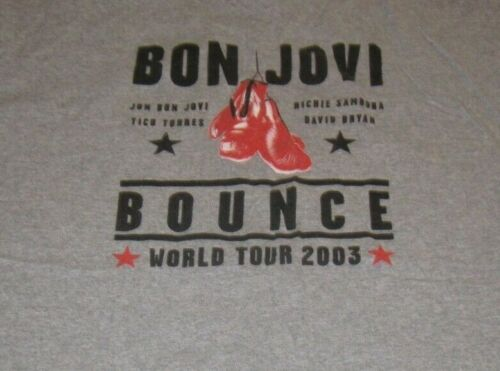 "2003 BON JOVI ""THE BOUNCE"" (XL) T-Shirt RICHIE SAMBORA"