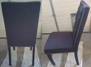 Picket House Eric Contemporary Polyester Dining Chair - Set of 2  Charcoal(New Other)