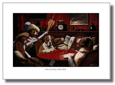 (Dogs Play Poker #2 Sick Friend Cassius Coolidge Wall Art Print Picture )