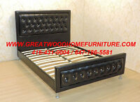 BRAND NEW LEATHER BED WITH CRYSTALS ....$399