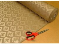 JACQUARD Taupe FABRIC FOR UPHOLSTERY,CURTAIN FROM