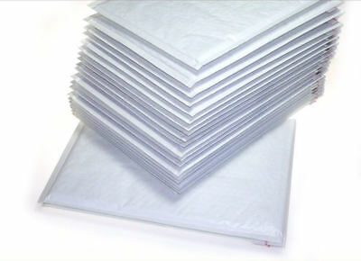 100 Quality New White Padded Bubble Lined Wrap Envelopes Bags 220mm x 260 mm