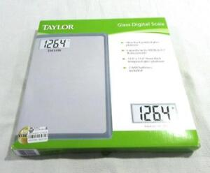 Taylor Glass Digital Scale Silver Back Painted Glass